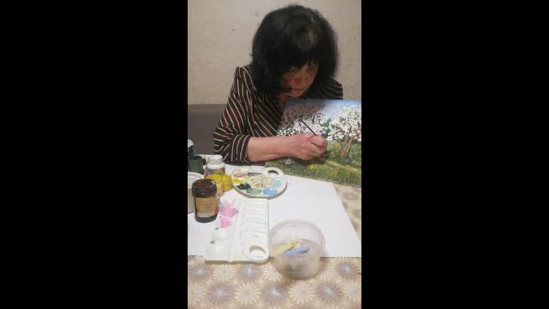 Видео урок по мастер классу на тему Цветущий май урок 5 Руководитель Артюхина Антонина