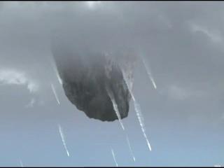 "Падение метеорита на город (фильм ""BBC: Конец света. 4 сценария апокалипсиса"", 2005 г.)"