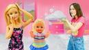 Смешные видео с куклой Барби – Пенная вечеринка для Штеффи! – Новые игры для девочек.