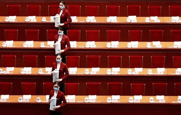 Подготовка к пленарному заседанию Всекитайского собрания народных представителей, Пекин, КНР