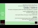 Kastelic Matej: CREDO for soprano and baritone soloists and mixed choir (SATB div.) a cappella