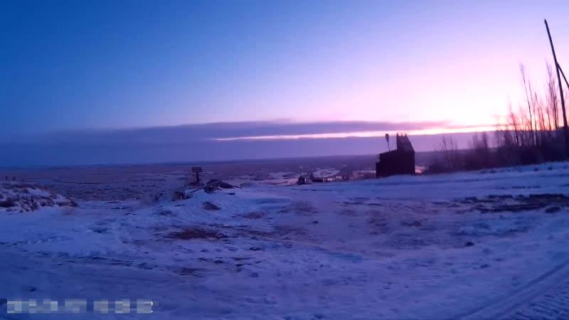 Обстановка реки Мезень 19.11.2019 снимаем на скорости.