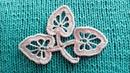 Красивый листик для ирландского кружева. Вяжем по схеме. Beautiful leaf lace for the Irish.