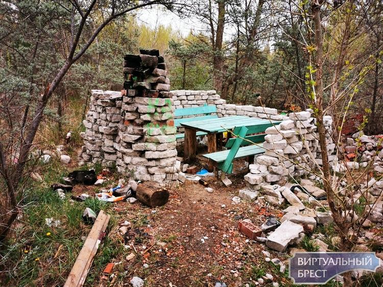 Будьте людьми! На отдыхе в лесу свой мусор выбрасывайте в мусорный бак