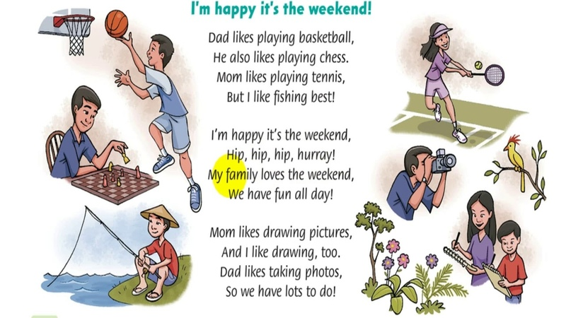 L4L English songs for kids 3 I'm happy it's the weekend