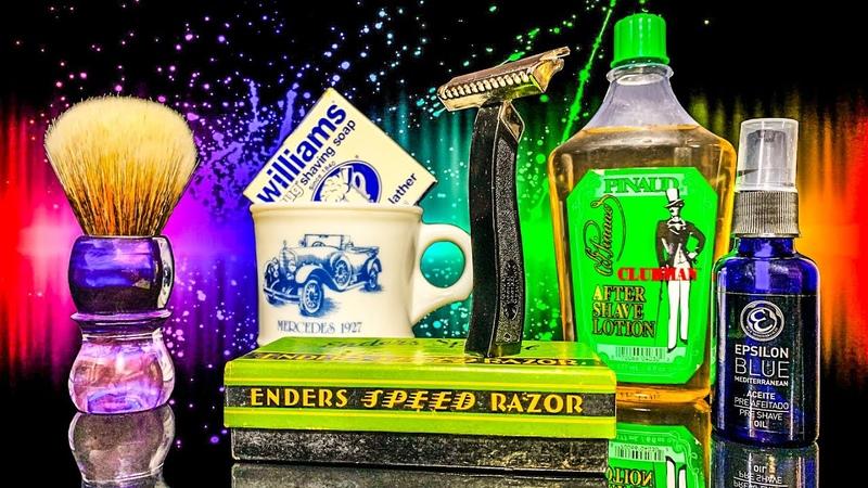 💈 Винтажное Бритье 🤘 Enders Speed Razor Pinaud Clubman Epsilon Blue Yaqi Brush Williams Soap