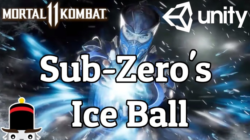 Sub-Zero's Ice Ball in Unity (from Mortal Kombat 11)