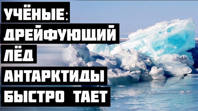 Учёные Дрейфующий лёд Антарктиды быстро тает