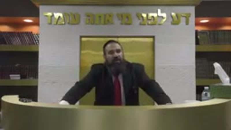 Jewish Rabi gives a warning