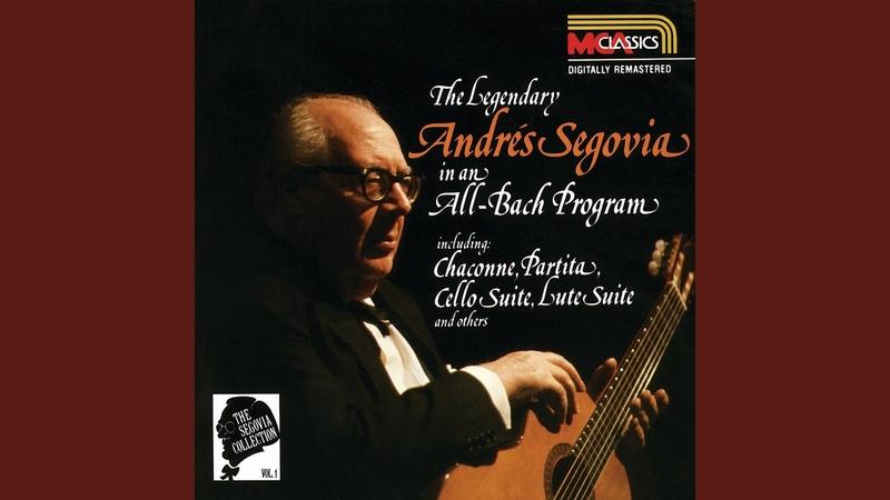 J S Bach Cello Suite No 3 in C major BWV 1009 arr Andrés Segovia 3 Courante