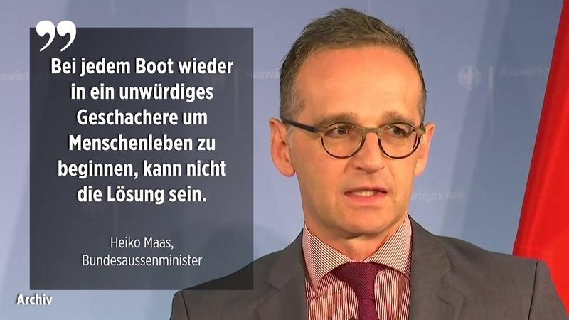 Maas will Vorreiter Initiative Deutschland garantiert immer ein Kontingent an Migranten aufzunehmen