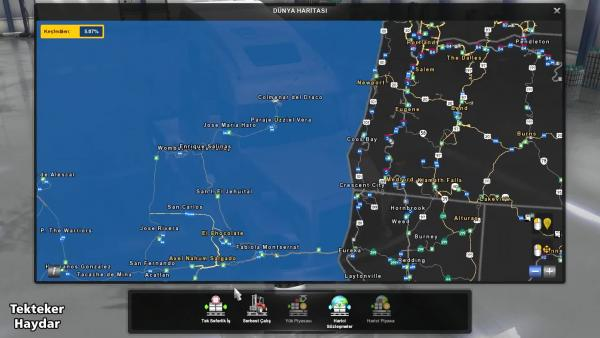 American Truck Simulator 1.36 Open Beta Сочетание карт 7-и карт