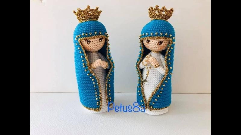 Virgen María a crochet amigurumis by Petus