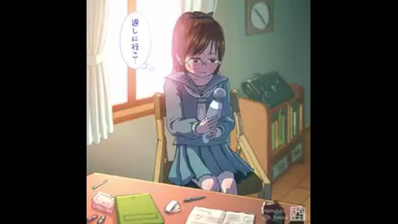 新作です音あり注意 - おばあちゃんに借りた電マのスイッチをONOFFしながら葛藤しているアニメができました