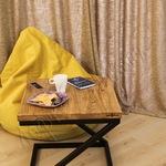 Журнальный столик в стиле лофт из ясеня