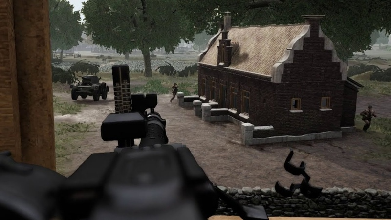 Post Scriptum MG34 Holding the Flank GER Comms ENG Subs