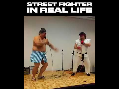 Street Fighter SFX Real Life Sound Battle Funny Video Ryu vs E Honda epicheroes Battle