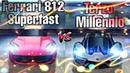 Asphalt 8 Ferrari 812 Superfast vs Lamborghini Terzo Millennio Alps Comparison