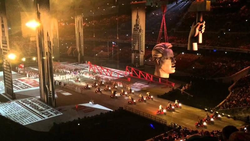 Церемония открытия олимпиады в Сочи 2014 мотоциклы