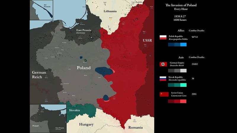 Нацистсько-радянська окупація Польщі в 1939 році, Німеччина, СРСР та Словаччина розділили Польщу між собою.