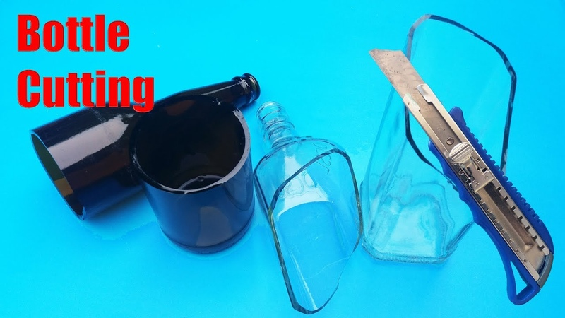 New Bottle Cutting Ideas Using Copper Wire Lighter Hot Air Gun