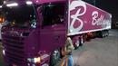 Lora em São Paulo novamente Obrigada senhor caminhoneira Scania