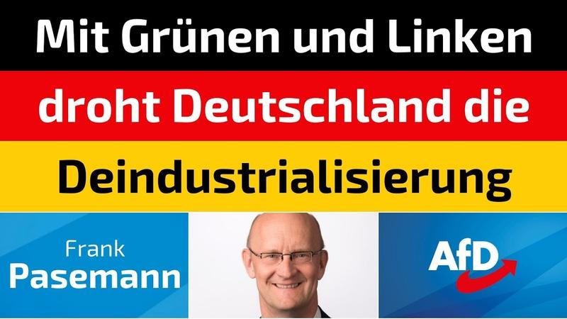 Frank Pasemann AfD Mit Grünen und Linken droht Deutschland die Deindustrialisierung