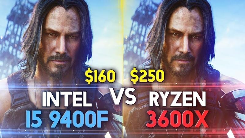 I5 9400f vs R5 3600x in 16 Games