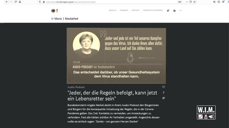 Jeder ist Teil des Kampfes 🎙📻 Merkel zählt auf dich Hauptquartier Berlin 28 März