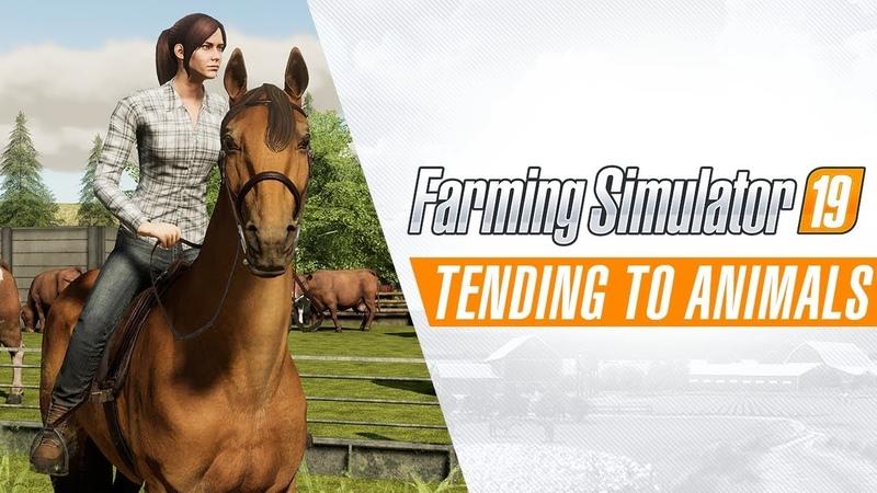 Farming Simulator 19 Tending to Animals Gameplay Trailer
