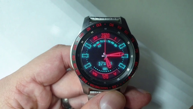 URBAN NEON WW25 Multicolor watchfacer for Samsung Gear Samsung Galaxy Watch
