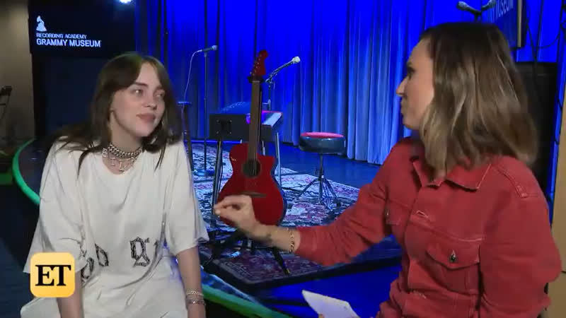 Billie for entertainment tonight at grammy museum