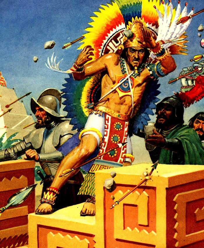 Бой с ацтеками