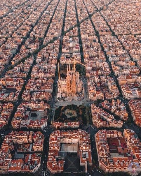 Барселона - вид сверху.