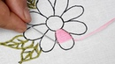 Hand embroidery buttonhole Blanket stitch flower embroidery stitching tutorial