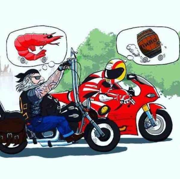 Прикольные рисунки с мотоциклами, танки февраля открытки