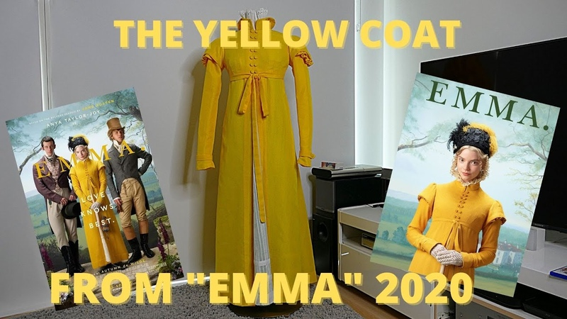 Sewing the yellow coat from the 2020 movie Emma
