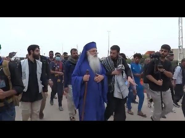 Bishop Malkhaz Songulashvili of Georgia attending Arbaeen Walk from Najaf to Karbala