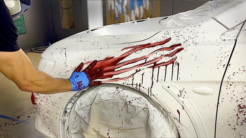 Crazy BLOOD SPLATTER Plasti Dip for Halloween The RIGHT Way