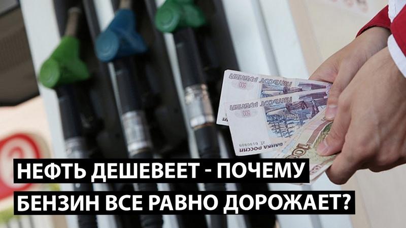 Почему дорожает бензин если нефть дешевеет Циничная правда