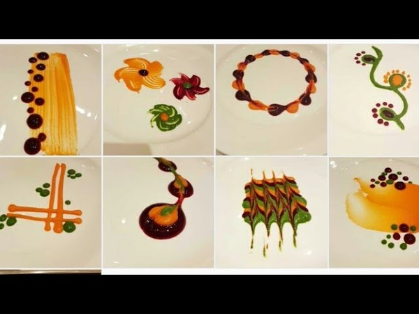 Types of colorful Plating techniques Part 2 Art on the plate By MONIKA TALWAR