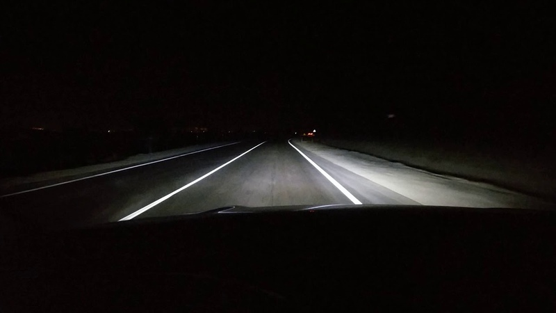 Bi-LED линзы ALTEZA PS 3.0 на Toyota Rav-4 (XA-30) трасса