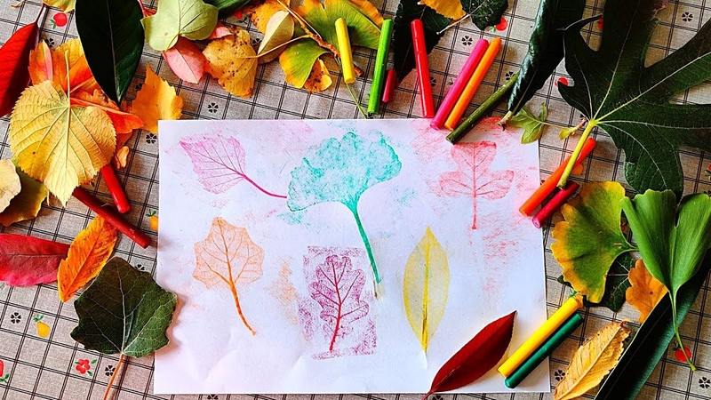 🍂 Disegnare le foglie con il frottage
