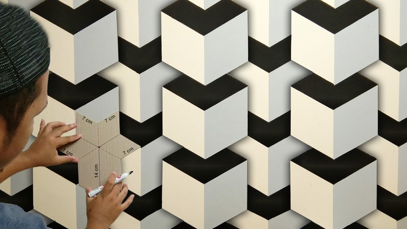 3D WALL PAINTING DESIGNS IDEAS HOW TO MAKE 3D WALL DECORATION CAT DINDING KAMAR KREATIF 3D