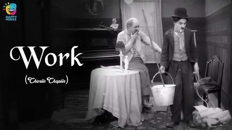Work 1915 Charlie Chaplin Edna Purviance Charles Inslee Leo White
