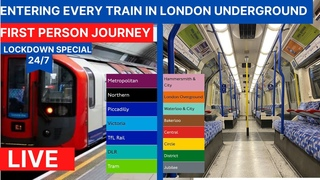 London Underground  🇬🇧- Entering EVERY train - 24/7 Livestream - First Person London Tube Journey