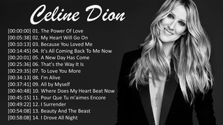 Celine Dion Greatest Hits - Best Songs