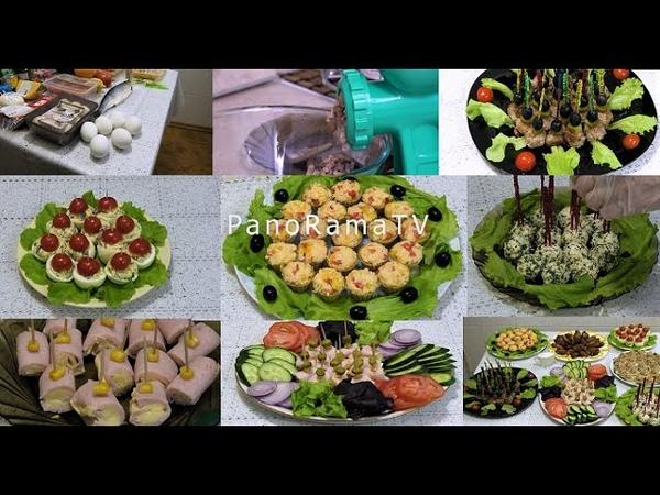 7 РЕЦЕПТОВ оригинальных и аппетитных ЗАКУСОК для праздничного стола ПРОСТО и ВКУСНО
