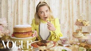 Florence Pugh Eats 11 English Dishes - Mukbang | Vogue