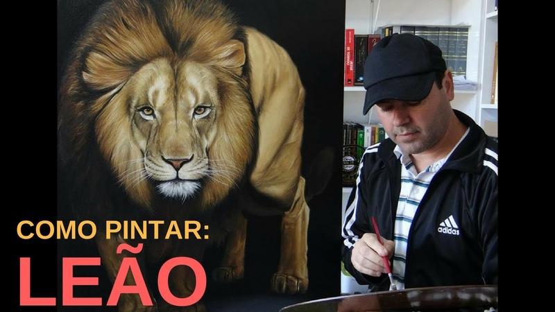 Como Pintar um leão. Todo Processo Passo a Passo de Pintura.